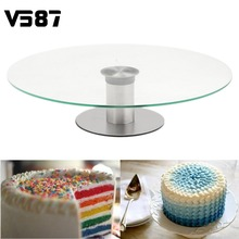 Cake Stand Platter Turntable Mouse Over Image To Zoom 360 Revolving Cupcake Dessert Wedding Birthday Party Display 30cm