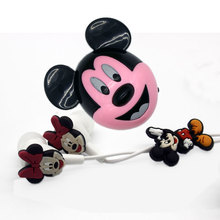 new Cartoon mickey mini music mp3 player with accessories earphone and cable child's gift(China)