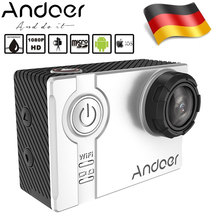 "DE STOCK Andoer AN7000 4K 1080P Full HD 16MP WiFi Anti-shake Waterproof Diving 60m 2.0"" LCD 166 Wide Angle Lens Sports DV Cam(China)"