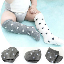 Toddler Baby Knee High Socks 0-20 Month Kids Star Design Long Boot Socks Boys and Girls Spring & Summer Foot Wear
