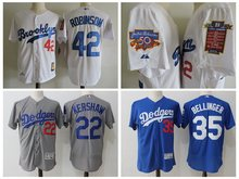 MLB Men's Dodgers 2017 high quality Stitched Jackie Robinson Cody Bellinger Clayton Kershaw baseball Jerseys(China)
