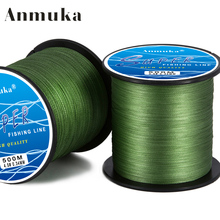 Anmuka Brand SUPER Series 500M Multifilament PE Braided Fishing Line 4 Strands Rope Braid Wires 8 to 80LB