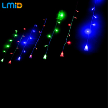 4*0.6M 120 LEDs Small Jingle Bell LED Curtain Light For New Year Wedding Garlands Decoration Lights Christmas Lighting Lamps