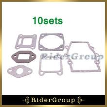 10x Engine Gasket Kit For 2 Stroke 47cc 49cc Chinese Mini Moto Dirt Pocket Bike Baby Crosser Kids ATV Quad 4 Wheeler Minimoto(China)