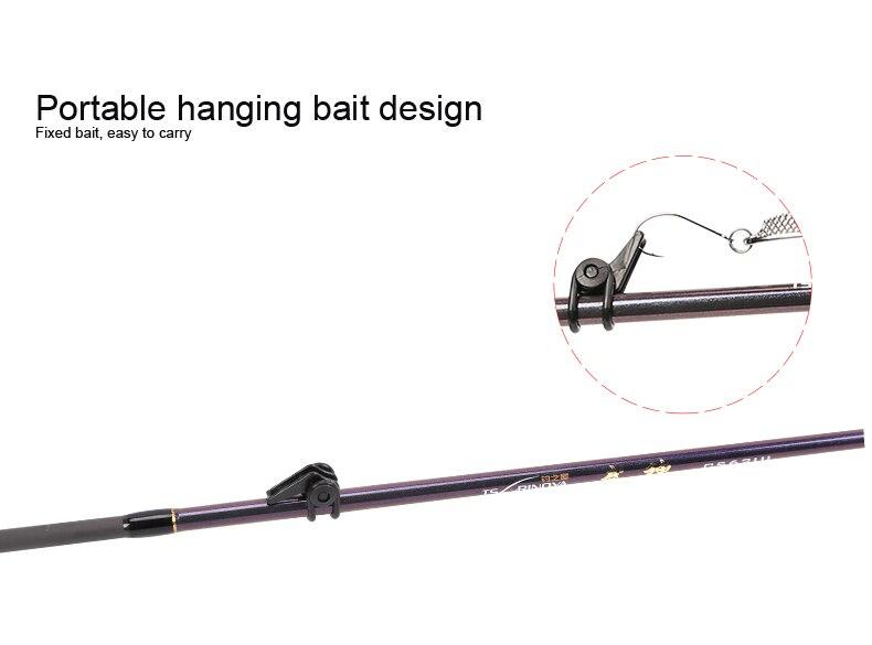 Tsurinoya 4' 6 UL Carbon Spinning Rod 1-6g Lure Weight, 2-6lb Line Weight Ultralight Fuji Fishing Rod Carbon Ul Spin Rod  (14)