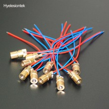 10pcs Laser Diodes 5MW 650 nm Diodo RED Dot Laser Diod Circuit 5V 5MW 650nm Module Pointer Sight Copper Head(China)