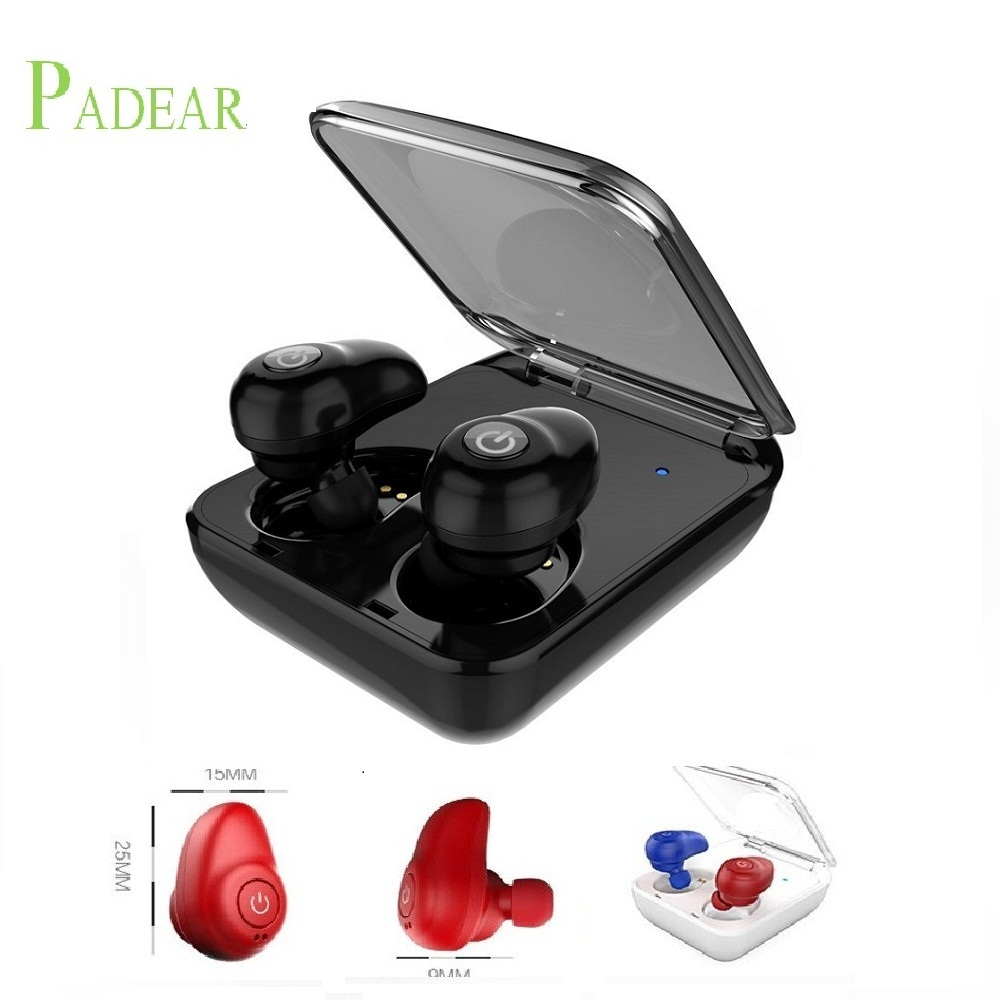 Padear mini Bluetooth Headsets Wireless Sports in-Ear Stereo Earbuds Earpiece Earphones not Air pods for apple iphone Android(China)