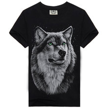 Short Sleeve Men`s T-shirts Printed Wolves Classic Summer Tee Shirts Male High Quality Brand Clothing In Cotton S-XXXL 1734