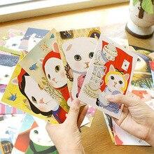 Новые 40 шт. 1 компл. 14.5x10 см Винтаж корейский стиль JETOY кошка открытки подарок Поздравительные открытки Коллекция открытка(China)