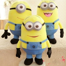 25cm Minions Doll Cushion 3D Eye Despicable Me Plush Soft Toy Minion Xmas Valentine's Day Gift A