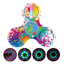 LED Light Fidget Spinner Finger ABS EDC Hand Spinner LED Tri For Kids Autism ADHD Anxiety Stress Relief Focus Handspinn GW26