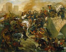 High quality 100% hand-painted famous artist oil painting reproduction of Delacroix famous painting The-Battle-of-Tailleburg(China)