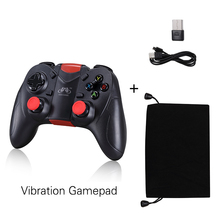 Gamepad Wireless Bluetooth Controller For Pc PS3 Android IOS TV Vibration Joystick USB Wireless 2017 New GENGAME S6 Deluxe(China)