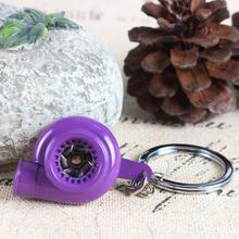 New Design Spin Sleeve Bearing Car Auto Parts Nos Turbine Turbocharger Purple Charm Pendant Key Ring Chain Creative Party Gift