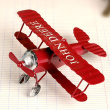 Beautiful Home Decor Artware Craft Figurines & Miniatures Iron Planes Model Small Ornaments(China)