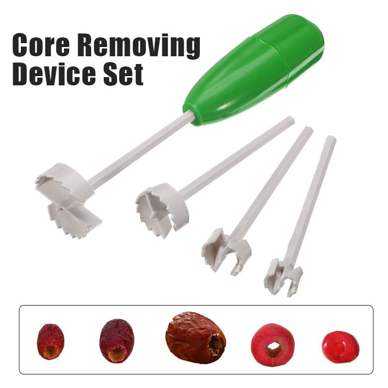 4pcs Vegetable Corer Drill Fruit Corer Different Types Environment Friendly Kitchen Supplies Perfect for Stuffed Peppers /& Veg