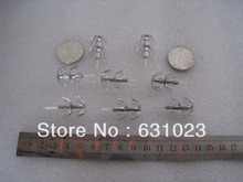 100pcs  fishing  hooks , squid hooks,squid jigs,silver colour,round hooks
