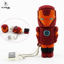 CHYI OTG Type Hot Fashion Cartoon Pen Driver 8GB 16GB 32GB Iron Man USB 2.0 Flash Drive For Android Smartphone Double Plug USB(China)