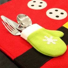 1PCS Christmas Stockings Placemats Knife And Fork Mat Christmas Decorations For Home Feliz Navidad Craft Supplies