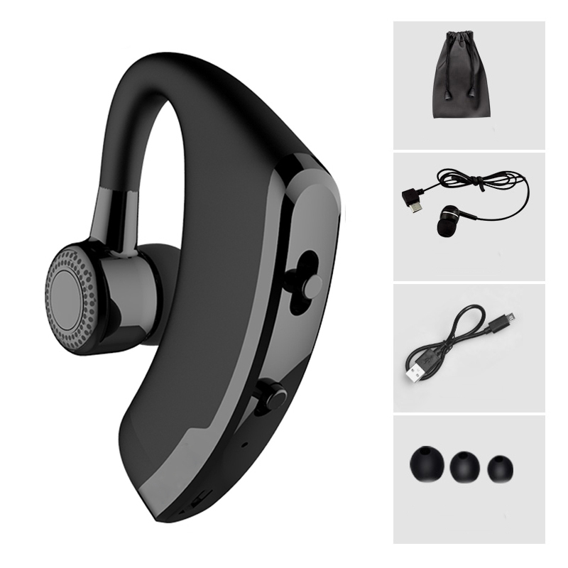 V9 Handsfree Business Bluetooth Headphone Mic Voice Control Wireless Bluetooth Headset Drive Noise Cancelling
