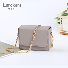 Solid taro color Box women min shoulder bag metal chain pu women crossbody fashion bag