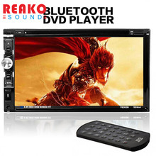 "REAKOSOUND 7"" HD Touch Screen Car In Dash FM Radio Receiver Bluetooth DVD CD Player with Wireless Remote Control"