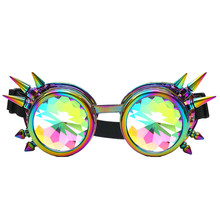 Fashion Kaleidoscope Colorful Glasses Rave sunglasses Festival Party EDM Sunglasses Diffracted Lens Multicolor 2017(China)