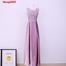 New 2017 double-shoulder robe de soiree long lace pink color plus size formal elegant fashion vestido longo evening dress