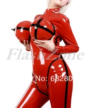 Free shipping!!! Fashionable breast inflatable latex anzug catsuits