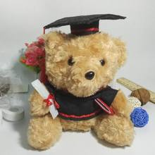 1 pieces Mini 19cm Animals Bear Doll Doctor service dr. cap Graduation Gift Plush Toys present for boy girl