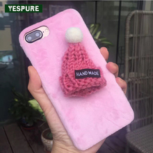 YESPURE Wholesale Cheap Cute Cell Phone Cases for Iphone 6plus/6splus Christmas Hats Lovely Mobile Accesorrios Phone Holder(China)