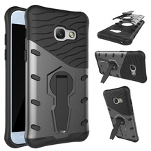 [Long Steven]For Samsung A5 2017 Case Rotary Support Anti-Knock Armor Cover For Samsung Galaxy A5 2017 Case Kickstand Funda A520(China)