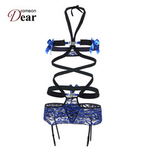 Buy Comeondear Lingerie Sexy Hot Erotic Midnight Bandage Crotchless Bodysuit Stockings Open Crotch Teddy Lingerie RK80126