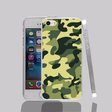 14574 Camouflage Military camo transparent Cover cell phone Case for iPhone 4 4S 5 5S 5C 6 6S Plus 6SPlus