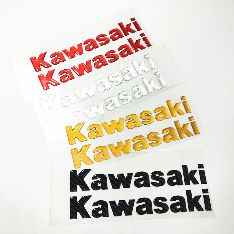 free shipping Motorcycle accessories three - dimensional 5D 3D carbon fiber film stickers fit for kawasaki stickers(China (Mainland))