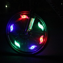 Flashing LED Bike Bicycle Cycling Wheel Wire Tyre Bright Spoke Lights Lamp Silicon
