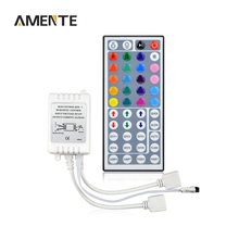 DC 12V Dual Connectors Output RGB Dimmer 44 Key IR Remote Controller Supply LED Strip Light Ribbon 3528 2835 3014 5050 Chip