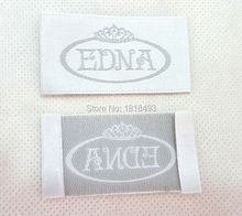 free shipping custom clothing label/dress embroidered satin tags/shirt tag/sewing labels custom/brand label/ribbon1000 pcs a lot