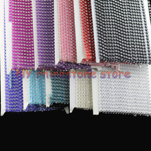 10Yards,SS12,3mm,AAA Grade Clear Glass Crystal Rhinestones Chain Trim 10 color Plastic chain Wedding dresses,for Dress,clothes