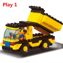 93pcs/set 2 In 1 Dump Truck Legoings Constructor Building Blocks Kit Children Educational Toys Gift Brinquedos(China)
