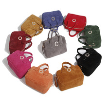 matt velvet mini ladies flap messenger bags with handle small women's shoulder handbag for mobilephone key  (HB25-50)