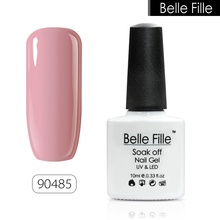 BELLE FILLE 10ml Colour UV Gel Nail Polish salon gel nail polish Bling lacquer Soak-off LED Gel easy painting fingernail polish(China)