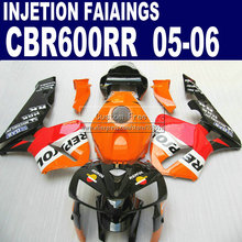 Injection  set for Honda yellow repsol CBR600RR fairing CBR 600RR 2005 2006 05 06  fairings parts & seat cowl