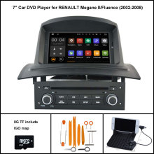 Android 7.1 Quad Core CAR DVD Player for RENAULT Megane II Fluence 2002-2008 1024X600 SCREEN WIFI/3G+DSP+RDS+16GB flash