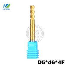 High Quality Cobalt HSS 5pc/5*6*4-flute End Mills Titanium Coating Milling Tool High Speed Steel Drill Bit Metal Stainless-steel(China)