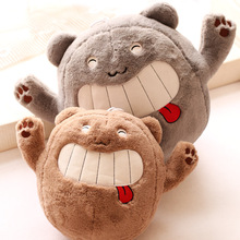 35cm 1pc Ha ha laugh spit tongue bear plush toys animal doll hold pillow stuffed toy baby children gift(China)