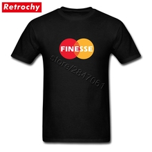 Tee Shirts Master Finesse Adult Bank Shirt Man Short Sleeve Cheap Brand Fashion T Shirt Apparel(China)
