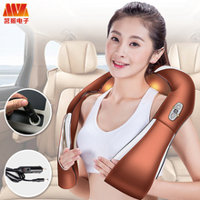 HOT NEW Shiatsu Cervical Back and Neck Massager Shawl Electric Roller Heat Device Manual China Home Car Slim Massage Machine(China)