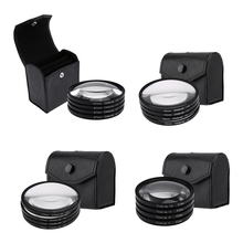 52mm 67mm 72mm 77mm Macro Close-Up Filter Set +1 +2 +4 +10 Lens with Pouch Macro Lens Filter Kit for Canon DSLR Camera(China)