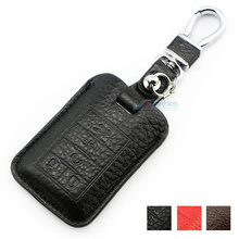 Muticolor genuine leather Cover For Cadillac SLS SRX XLR ESCALADE CTS COUPE XTS ATS Seville keychain keyless key holder shell